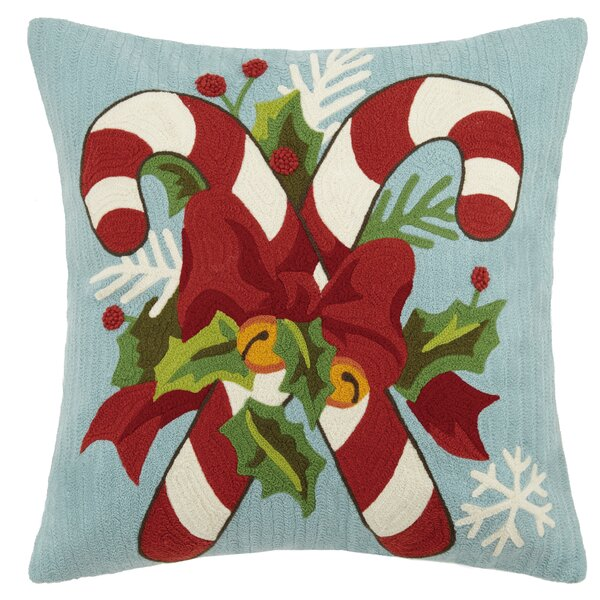 Delane Holiday Crewel 100% Cotton Throw Pillow by Darby Home Co